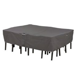 Classic Accessories Ravenna Rectangular/Oval Patio Table & Chair Set Cover – Premium O ...