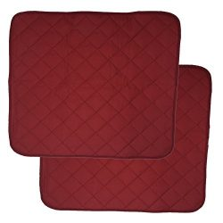 LUXEHOME Set of 2 Waterproof Cozy Seat Protector Cushion 22×21 Inch (Burgundy)