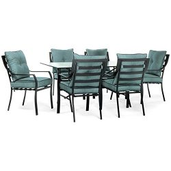 Hanover LAVDN7PC-BLU Lavallette 7 Piece Outdoor Dining Set in Ocean Blue