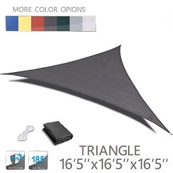 "LOVE STORY 16'5"" x 16'5"" x 16'5"" Triangle Charcoal UV Block  ..."