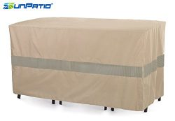 SunPatio Outdoor Bistro Cover, Extremely Lightweight, Water Resistant, Eco-Friendly, Helpful Air ...