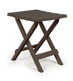 Camco 51882 Regular Quick Folding Adirondack Side Table – Mocha