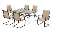 Hampton Bay Belleville Outdoor Decorative 7-Piece Patio Dining Set, Seats 6