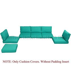 Do4U 11pcs 9002 DarkTurquoise Sofa Cushion Cover Set