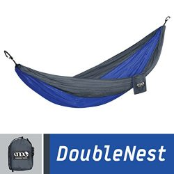 ENO Eagles Nest Outfitters – DoubleNest Hammock, Portable Hammock for Two, Charcoal/Royal  ...