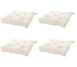 Ikeas MALINDA Chair cushion (4, White)