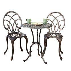 Copper Aluminum Modern Design Patio Furniture Bistro Set