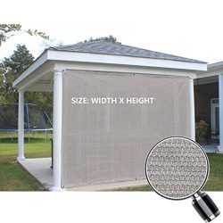 Alion Home Sun Shade Privacy Panel with Grommets on 2 Sides for Patio, Awning, Window, Pergola o ...