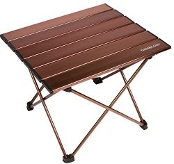 Trekology Camping / Beach Table with Aluminum Table Top  Portable Folding Table in a Bag for Bea ...