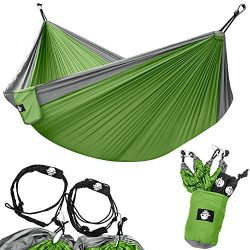 Legit Camping – Double Hammock – Lightweight Parachute Portable Hammocks for Hiking  ...