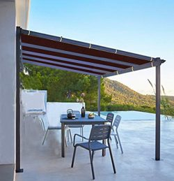 Shatex 6x10ft Wine Red Outdoor Waterproof Sunscreen Shade Panel Ready-to-tie Ropes designed for  ...