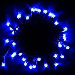 Mini Golbe 50 Led Outdoor String Lights,G12 17Ft Green Wire,Commercial Grade,10000 Hours Life Sp ...