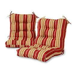 Greendale Home Fashions Outdoor Seat/Back Chair Cushion (set of 2), Roma Stripe