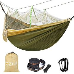 Double Camping Hammock With Mosquito Net EZfull – 660LBS Bearing Portable Outdoor Hammocks ...