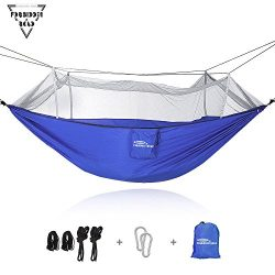 Forbidden Road Hammock Single & Double Mosquito Net Camping Hammock Capacity 300lbs Portable ...