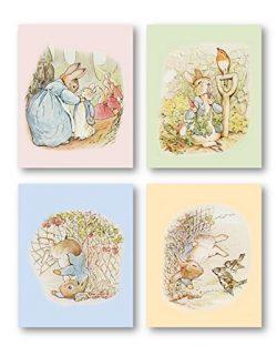 Peter Rabbit Nursery Decor – Peter Rabbit Art PRINTS ONLY, Unframed. Must be Framed by you ...