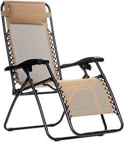 AmazonBasics Zero Gravity Chair – Beige