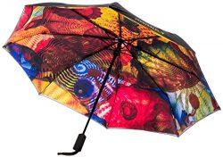 Chihuly Pergola Folding Black Umbrella