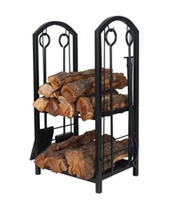 Patio Watcher Deluxe Firewood Rack Log Rack with 4 Tools Firewood Storage Log Holder for Indoor  ...