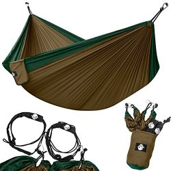 Legit Camping – Double Hammock – Lightweight Parachute Portable Hammocks for Hiking  ...