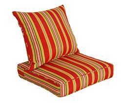 [SewKer] Indoor/Outdoor Patio Deep Seat Cushion Set Stylish Bravada Salsa 3604