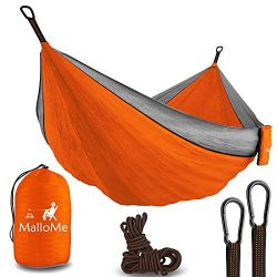 XL Double Parachute Camping Hammock – Tree Portable with Max 1000 lbs Breaking Capacity &# ...