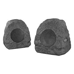 Innovative Technology Premium 5-Watt Bluetooth Outdoor Rock Speakers with A/C Adaptor and Built  ...
