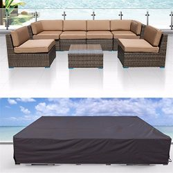 Patio Cover, Essort Outdoor Furniture Lounge Porch Sofa Waterproof Dust Proof Protective Lovesea ...