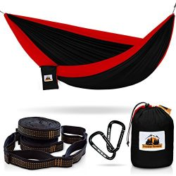 Huge Sale Ending Soon! All-in-One Camping Hammock, Portable and Lightweight – Includes Double Pa ...