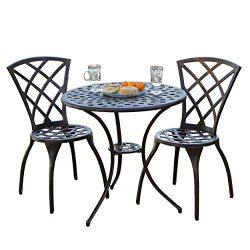 Woven Aluminum Modern Design Patio Furniture Bistro Set