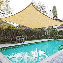 Yescom 20×16 Ft Outdoor UV Block Rectangle Sun Shade Sail Canopy Cover for Patio Pool Lawn  ...