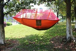 Everking Double Camping Hammocks with Mosquito Net,Lightweight Parachute Nylon Fabric Double Ham ...