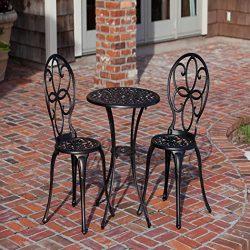 Aluminum Patio Furniture Antique Bronze Bistro Set