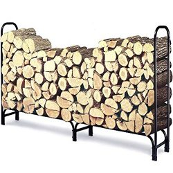 8 ft Outdoor Fire Wood Log Rack for Fireplace Heavy Duty Firewood Pile Storage Racks for Patio D ...