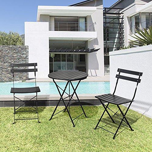 3 Piece Outdoor Bistro Table Set Outdoor Furniture Round
