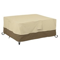 Classic Accessories 55-599-011501-00 Veranda Rectangular Fire Pit/Table Cover, 56-Inch