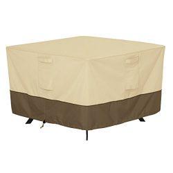 Classic Accessories Veranda Square Patio Table Cover – Durable and Water Resistant Patio F ...
