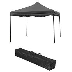 Sunomatic OF-FST01 BLACK Straight Leg Instant EZ Pop Up Outdoor Canopy Gazebo Party Wedding Fold ...