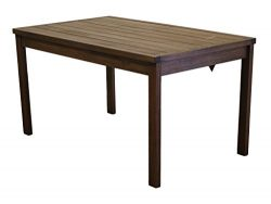 Timbo Mestra Hardwood Outdoor Patio Rectangular Dining Table, Table, Brown