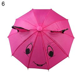Lightclub Decorative Mini Umbrella Fit 18inch American Girl Doll Accessory Christmas Gift (#6)