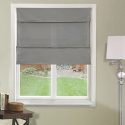 Chicology Cordless Magnetic Roman Shades / Window Blind Fabric Curtain Drape, Light Filtering, P ...