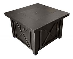 AZ Patio Heaters Fire Pit, Propane in Decorative Bronze with Lid