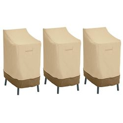 Classic Accessories 55-642-011501-3PK Veranda Patio Bar Chair/Stool Cover (3-Pack)