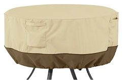 Classic Accessories Veranda Round Patio Table Cover – Durable and Water Resistant Patio Se ...