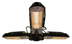 Fire Sense Indoor/Outdoor Infrared Heater with Patio Umbrella Pole Attachment