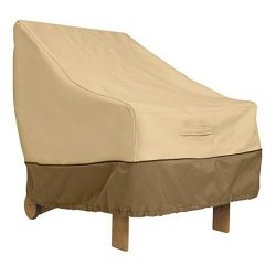 Classic Accessories Veranda Patio Lounge/Club Chair Cover – Durable and Water Resistant Pa ...