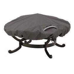 Classic Accessories Ravenna Round Fire Pit Cover – Premium Outdoor Cover with Durable and  ...