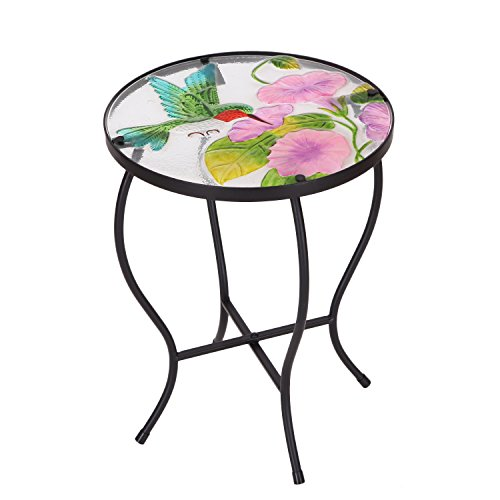 Adeco Round Side Table Plant Stand Flower Holder Accents