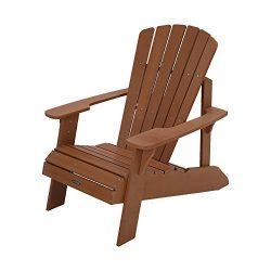Lifetime Faux Wood Adirondack Chair, Light Brown – 60064