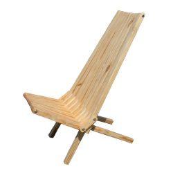 GloDea X45P1TOS1 Lounge Chair, Teak Oil, Set of 1